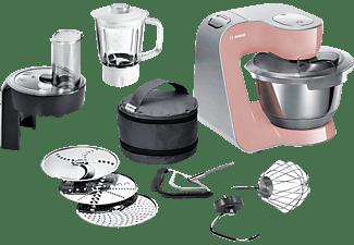 BOSCH MUM58NP60 Creationline Premium Küchenmaschine Rosa/Silber (Rührschüsselkapazität: 3,9 Liter, 1000 Watt)