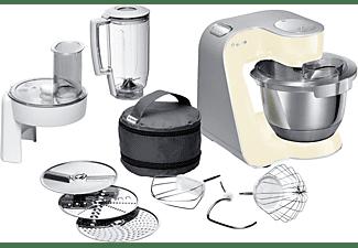 BOSCH MUM58920 CreationLine Küchenmaschine Vanille (Rührschüsselkapazität: 3,9 Liter, 1000 Watt)
