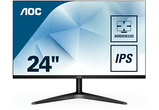 "Monitor - AOC 24B1XHS, 24"", IPS, FHD, IPS, VGA, HDMI, Brillo 250 cd/m2, Sin marcos, Negro"