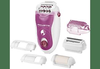 Depiladora - Rowenta EP5660 EO SILENCE SOFT 2 velocidades, Ultra silenciosa, Varios accesorios
