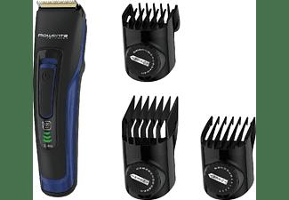 Cortapelos - Rowenta Advancer TN5220F0 Negro y Azul + 3 Accesorios, Turbo