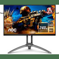 AOC Gaming Monitor Agon AG273QZ, 27 Zoll, WQHD, 240Hz, schwarz/silber