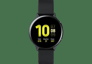 SAMSUNG Galaxy Watch Active2 44 mm LTE Smartwatch Aluminium Fluorkautschuk-Armband, M/L, Aqua Black