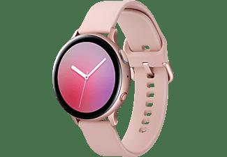 SAMSUNG Galaxy Watch Active2 44 mm LTE Smartwatch Aluminium Fluorkautschuk-Armband, M/L, Pink Gold