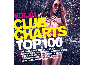 VARIOUS - Club Charts Top 100 Vol.1  - (CD)