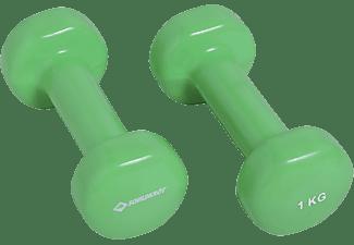 SCHILDKRÖT Fitness 2x 1 kg Vinyl Hanteln, Grün