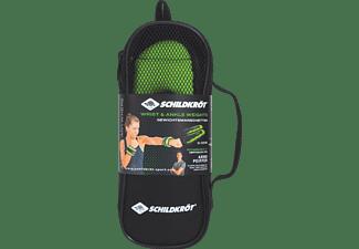 SCHILDKRÖT Fitness Arm-Bein 2x 0.5 kg Gewichtsmanschetten, Schwarz/Grün