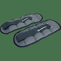 SCHILDKRÖT Fitness Arm-Bein 2x 1 kg Gewichtsmanschetten, Anthrazit/Schwarz