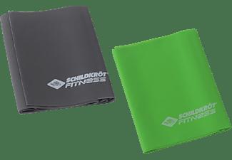 SCHILDKRÖT 2er Set - LATEXFREI Fitnessbänder, Grün/Anthrazit