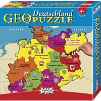AMIGO 00382 GEOPUZZLE - DEUTSCHLAND Kinderpuzzle, Mehrfarbig