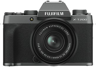 FUJI Hybride camera X-T200 + 15-45 mm Dark Silver (D10700-DS)