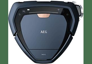Robot aspirador - AEG RX9, Navegación 3D, WiFi, App, 0.9L, 120 min, 75 dB, Azul