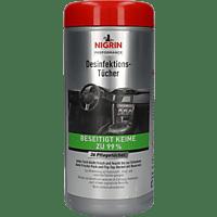 NIGRIN Performance 36 Flächen Desinfektions-Tücher, Grau/Rot