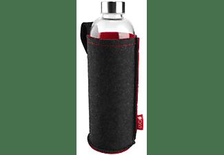 EVA Glas-Trinkflasche mit Filzhülle 1l