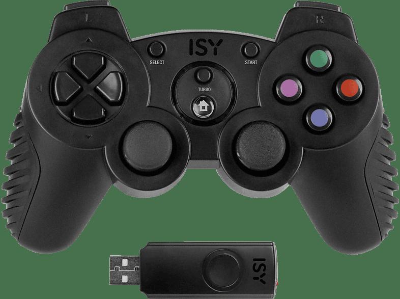 ISY Wireless PS3 Gamepad, Controller, Schwarz
