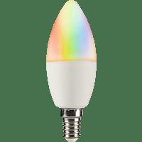 XLAYER Smart Echo LED Lampe Glühbirne, Warmweiß, mehrfarbig