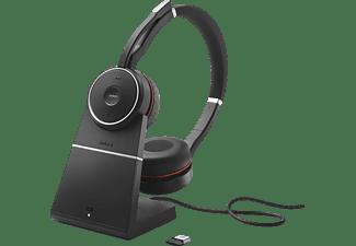 JABRA Evolve 75 Stereo UC inkl. Link 370 + Ladestation Headset Schwarz