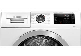 Secadora - Bosch WTU87RH1ES, 8 kg, Independiente, WiFi Home Connect, A+++, Blanco