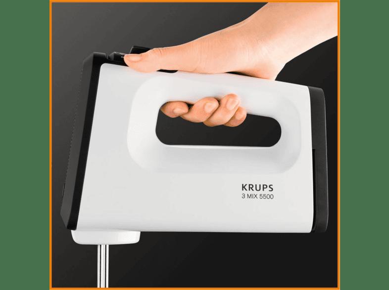 Handmixer mit Turbostufe 500 Watt wei/ß//schwarz edelstahl