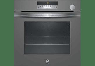 Horno - Balay 3HA5378A1, 71 l, 3600 W, Pirolítico,Raíles Comfort Plus, Función Auto Chef, Gris