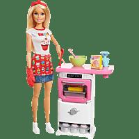 BARBIE Cooking & Baking Backofen-Spielset, Mehrfarbig