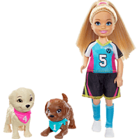 """BARBIE """"Traumvilla Abenteuer"""" Chelsea Fußballerin Puppenspielset, Mehrfarbig"""