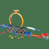 HOT WHEELS Stunt N Go Transporter & Trackset Spielzeugfahrzeug, Mehrfarbig