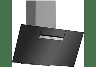 Campana - Balay Serie Cristal 3BC586GN, Decorativa, 669.5 m³/h, 255 W, 2x luces LED, Vidrio, Negro