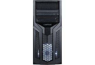 CAPTIVA R51-786, Gaming PC mit Ryzen 5 Prozessor, 16 GB RAM, 480 GB SSD, 1 TB HDD, GTX 1050Ti, 4 GB