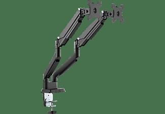 """DIGITUS Universal Dual Monitorhalter mit Gasdruckfeder und Klemmbefestigung, 15-32"""", 2x 9 kg (max.)"""
