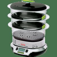 TEFAL VS4003 VitaCuisine Compact Dampfgarer 1800 Watt, Schwarz/Chrom