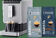 TCHIBO 504964 Esperto Caffè inkl. 2kg BARISTA Kaffeebohnen Kaffeevollautomat Silber