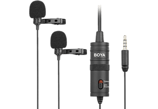 BOYA Omnidirectionele dubbele lavalier-microfoon 3.5 mm jack (BY-M1DM)