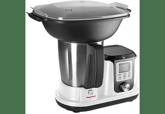 Robot de cocina - Magefesa Magchef White MGF4540, Multifunción, Accesorio Vaporera, 3.30 L, 1200W, Blanco