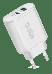 USB Laddare 100 240V 2 x USB 4.8A, Silver