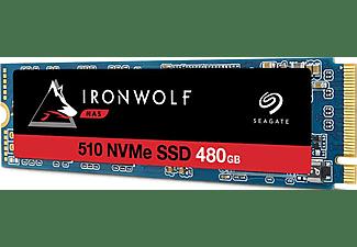 SEAGATE 480GB SSD Festplatte IronWolf 510, NAS, M.2 NVMe, W600/R2650
