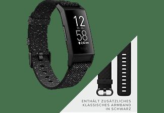 FITBIT Charge 4 NFC Special Edition mit zusätzlichem Armband, Fitnesstracker, S, L, Black/Granite