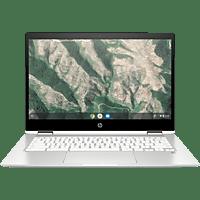 HP Chromebook x360 14b-ca0320ng, Chromebook mit 14 Zoll Display Touchscreen, Pentium® Silver Prozessor, 4 GB RAM, 64 GB eMMC, Intel® UHD Grafik 605, Weiß