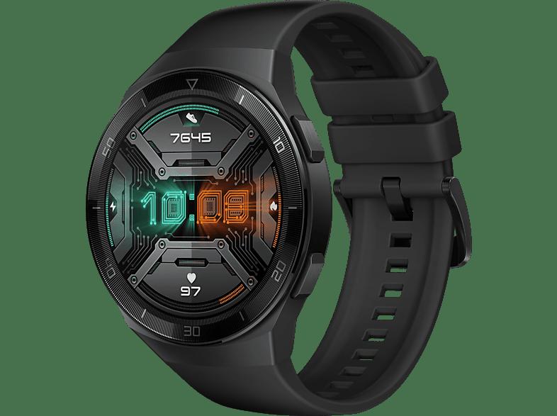 HUAWEI Huawei Watch GT 2e (Hector B19S) Smartwatch Metall, Kunststoff Fluorelastomer Thermoplastisches Polyurethan, 140 210 mm, Graphite Black
