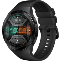 HUAWEI Huawei Watch GT 2e (Hector B19S) Smartwatch Metall, Kunststoff Fluorelastomer/Thermoplastisches Polyurethan, 140-210 mm, Graphite Black