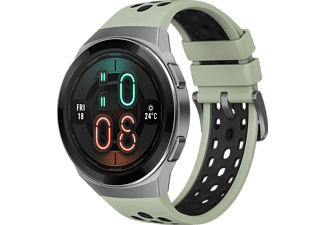 HUAWEI Huawei Watch GT 2e (Hector B19C) Smartwatch Metall, Kunststoff Fluorelastomer/Thermoplastisches Polyurethan, 140-210 mm, Mint Green