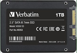 VERBATIM Vi550 S3 Festplatte, 1 TB SSD SATA 6 Gbps, 2,5 Zoll, intern