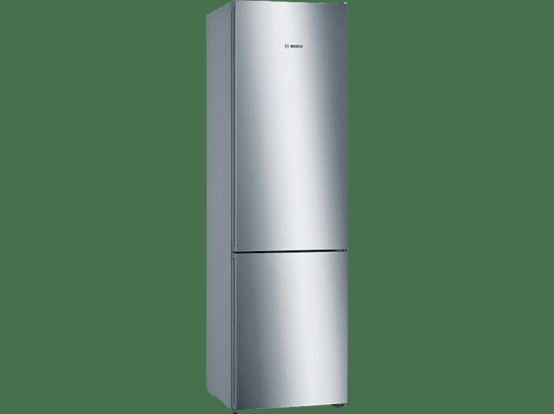 BOSCH KGN 392 IDA Serie 4 Kühlgefrierkombination D, 2030 mm hoch, Edelstahl Chrome-Inox Metallic