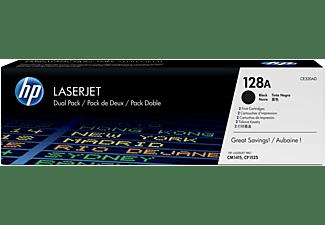 Tóner - HP 128A LaserJet, Paquete doble, Negro, CE320A