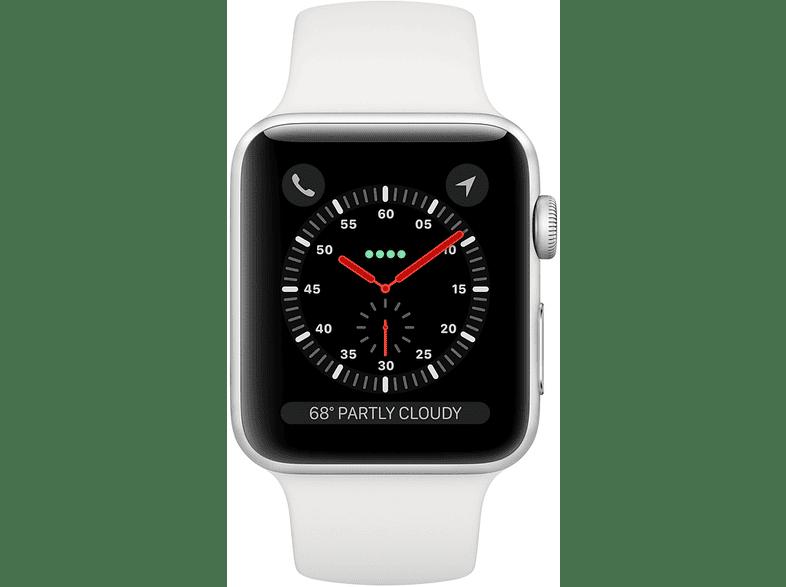 Apple Watch Series 3 GPS 42mm ezüst aluminiumtok fehér