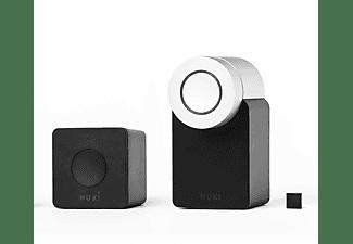 Kit de seguridad doméstico - Pack 2.0 Nuki Bridge + Nuki Smart Lock 2.0, Abrepuertas, Bluetooth, WiFi, Negro