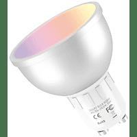 Bombilla inteligente - Muvit iO GU10, 5 W, 400lm, RGB + Blancos, Regulable, Multicolor
