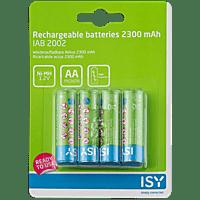 ISY IAB-2002 AA Wiederaufladbare Batterien, 1.2 Volt 4 Stück