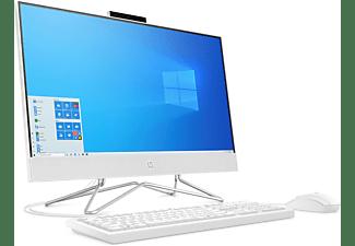 HP 24-df0303ng, All-in-One-PC mit 23,8 Zoll Display, Ryzen 3 Prozessor, 8 GB RAM, 512 GB SSD, AMD Radeon, Weiß