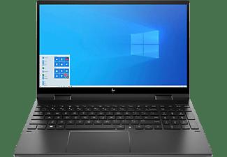 HP ENVY x360 15-ee0358ng, Convertible mit 15,6 Zoll Display, Ryzen™ 5 Prozessor, 16 GB RAM, 512 GB SSD, Radeon Vega 8, Schwarz
